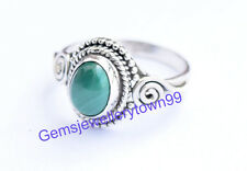 Green Malachite Ring 925 Sterling Silver Stone Ring Size 4 5 6 7 8 9 10 11 R12ML