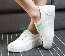 Tennis Low Top Womens Canvas Lace Up flat skate board Sneakers preppy girl Shoes