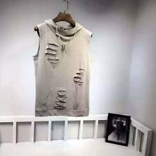 BNWT GIVENCHY Holes Gary Hoodies PARIS Cotton Summer Sleeveless T-Shirt All Size