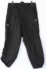 BORIS BIDJAN SABERI LOOSE FIT BLACK COTTON ADJUSTABLE LENGTH PANTS M,L,949€