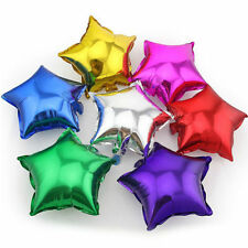 "10PCS 5"" Foil Multicolor Star Helium Balloons Wedding Birthday Party Decoration"
