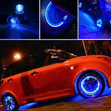 4pcs Bike Bicycle Car Motor Wheel Tyre Tire Valve Cap LED Neon Flash Lamp Light