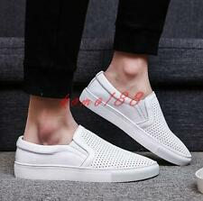 Mens loafer Casual hollow out breathable flat shoes skate board sneaker plus sz