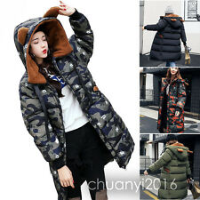 2017 Women's Warm Winter Coat Long Down Cotton Parka Hooded Coats Trench Jacket