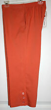 NWT Alfred Dunner Papaya Color (820) Capri Pants W/ Button Accent - Size 8