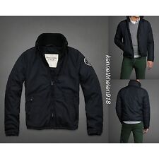 NWT ABERCROMBIE & FITCH MENS LOST POND JACKET NAVY SIZE MEDIUM A&F