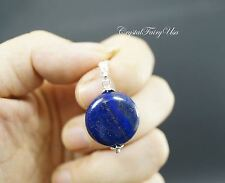 Single Lapis Necklace - Tiny Sterling Silver Lapis Lazuli Necklace - Lapis Penda