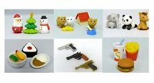 USD - Cute Japanese Puzzle eraser Santa Clause Gun Puppy Burger Sushi