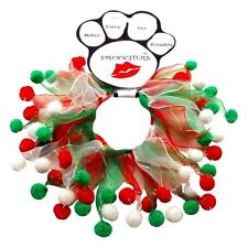 Mirage Pets Christmas Fuzzy Wuzzy Pet Smoocher - Red, White, Green (SM-MD-LG-XL)