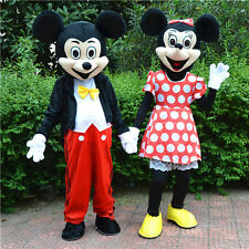 Mickey and Minnie Mouse Adult Mascot Costume Party Fancy Dress