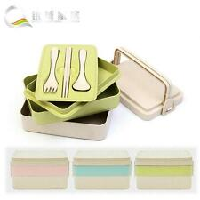 Reusable Lunch Bento Box Cutlery Food Storage Canteen Fashion Style Lunch Box