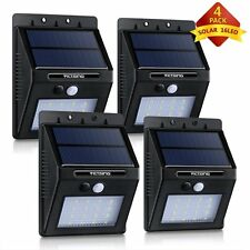 4X 16 LED Solar Powered Motion Sensor Lamp Outdoor Garden Waterproof Wall Light