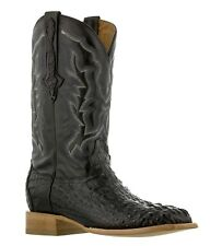 mens black real crocodile square toe cowboy leather boots western rodeo
