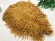 wholesale! 10-100pcs quality gold ostrich feathers 6-16 inches / 15-40cm