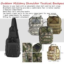 Outdoor Military Tactical Backpack Camping Travel Hiking Trekking Shoulder Bag W