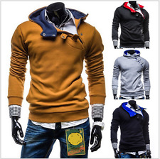 New Stylish Men's sweater Casual zipper buckle cable Korean Hoodie Jacket Hot