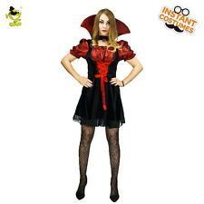 Adults Goth Gothic Costume Maiden Vampiress Vampire Fancy Dress Outfit
