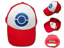 Pokemon Trainer Satoshi ASH KETCHUM Embroidered Anime Costume Cosplay Cap Hat