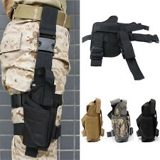 Adjustable Pouch Holder Tactical Pistol Gun Drop Bag Puttee Leg Thigh Holster