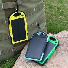 5000mAh Universal Solar Power Bank External Battery Charger for iPhone Samsung