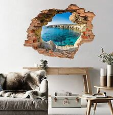3D Cave Sea 71 Wall Murals Stickers Decal breakthrough AJ WALLPAPER UK Lemom