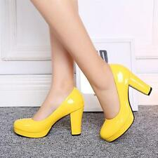 Mary Janes Womens Round Toe Platform Pumps OL Date High chunky Heels Shoes candy