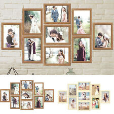 """9PCS Family Photo Frame Set 7"""" Picture Collage Display Home Wall Decoration Gift"""