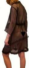 Sheer Chiffon Frill edge Robe Negligee Dressing Gown - Made in UK sexy lingerie