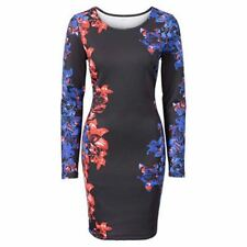 Colorful Vintage Floral Casual New Fashion Printing Long Sleeve Dress For Women