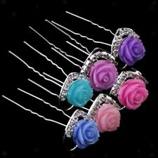 20Pcs Crystal Rhinestone Flower Wedding Bridal Hair Pins Hair Accessories