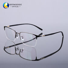 New Men's Half Rimless Titanium Reading Glasses Eyeglasses Reader +0.00~+5.00
