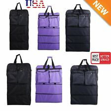 """36"""" / 40"""" Expandable Rolling Duffel Bag Wheeled Spinner Suitcase Luggage NEW MX"""