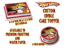 Hot Wheels Personalized Edible Image Sheets Cake Toppers Image 3