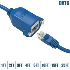 1-25Ft Cat5e Cat6 RJ45 Male To Female Network LAN Panel Mount Extension Cable