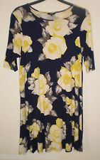Papaya Weekend Multi Coloured Flower Floral Print Summer Holiday Dress, Size 14