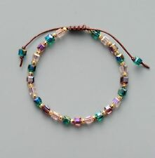 Bling Crystal Gold Bead Friendship Bracelet Coloful Cristal Adjustable Bracelet