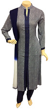 Indian Pakistani Printed Blue Rayon Suit, Casual Stitched Salwar Kameez Shalwar