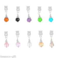 Wholesale Lots Gifts Mixed Glass Dangle Beads Fit Charm Bracelet 27x8mm