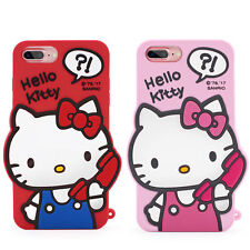 New Cute 3D Hello Kitty Soft Cartoon Silicone Cover Case Skin For iPhone 6/7Plus