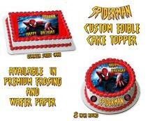 Spider-Man  Personalized Edible Image Sheets Cake Toppers
