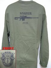 SPECIAL FORCES LONG SLEEVE T-SHIRT/  .50 CAL SNIPER/ NEW