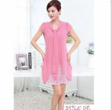 Women Summer Fashion Plus Size Casual Chiffon Floral Print Dress PN1529