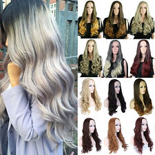 Ladies Cosplay Half Wigs Long Wave Soft Hair Heat Resistant Synthetic Wig Equal