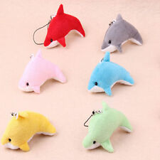 1PC Kawaii Cute Dolphin Plush Toy Mobile Cell Phone Strap Keychain Bag Pendant