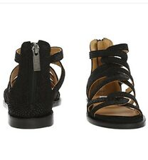 """NEW """"TED & MUFFY"""" Women's Black Speckled Leather Sandals"""