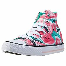 Converse Chuck Taylor All Star Hi Vapor Pink Green Glow Youth Canvas  Trainers