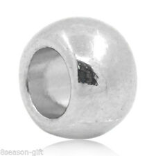 """Wholesale Lots Silver Tone Round Spacer Beads 6x5mm(2/8""""x2/8"""")"""