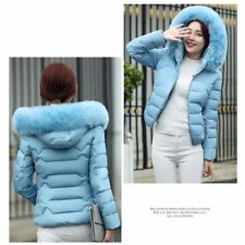 Fashion Women Cotton Warm Jacket Short Fur Collar Hooded Coat Down Jacket XP