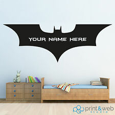 Personalised Name Batman Logo Children Art Wall Decals Wall Stickers