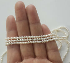2-3mm pearl, genuine freshwater pearl, loose beads, tiny pearl,seed pearls,14""